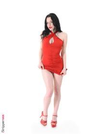 Quinn Lindemann in red dress from Czech Republic StripShow  gallery