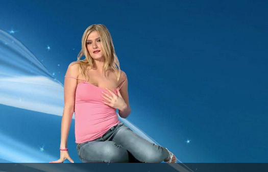 Blonde in jeans from Russia StripShow  gallery
