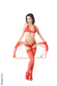 Lady in red from Czech Republic StripShow  gallery